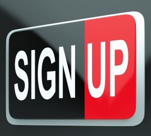 Sign Up Button Shows Members And Subscriptions